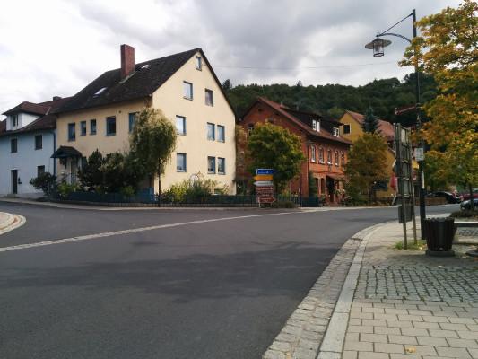 Start: Waischenfeld - kurz vor der Pizzeria