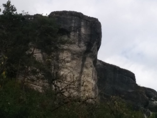 Kletterfelsen kurz vor Zeubach