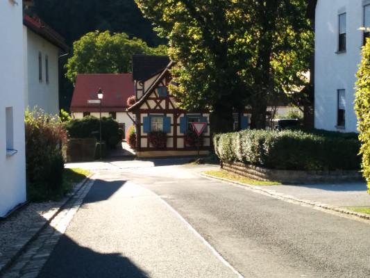 Ende der Abfahrt in Frankendorf