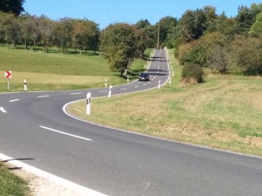 Und ein allerletzter Aufstieg zu Bieberbacher Sportplatz !