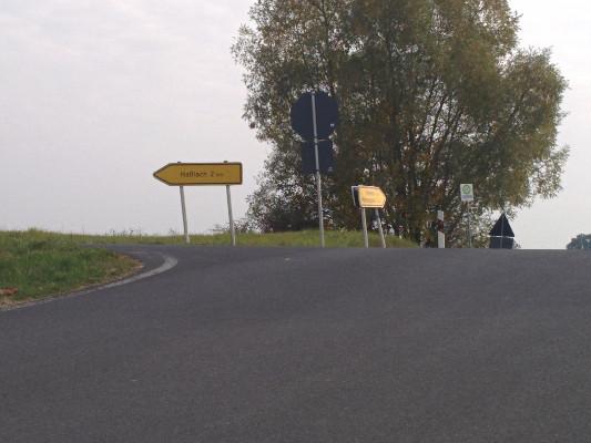 und wir erreichen die Kreuzung nach Pottenstein, Haßlach!