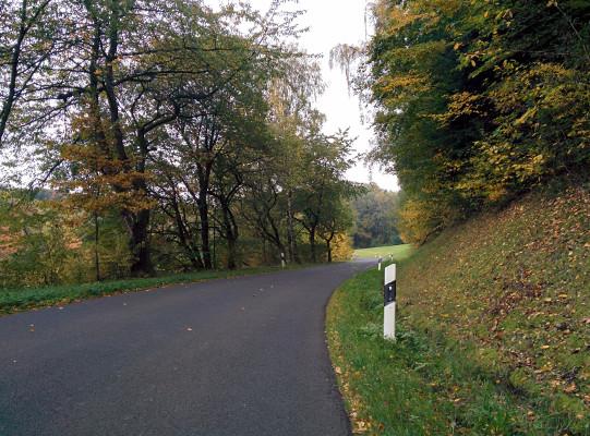 Start: Kurz nach Bodendorf ein 15 % Anstieg !