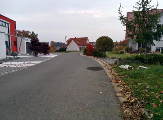 .. und wir erreichen den Ortseingang von Trockau !